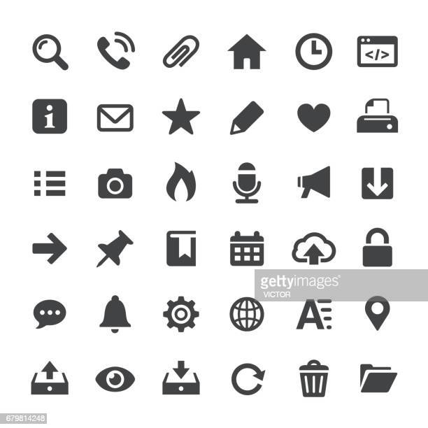 interface icons - big series - paper clip stock illustrations, clip art, cartoons, & icons