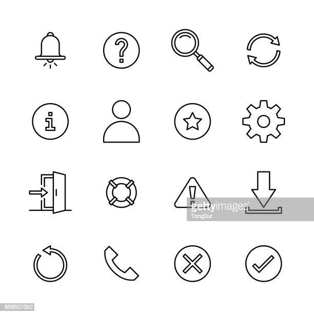 interface icons - line - leaving stock illustrations