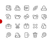 Interface Icons // Red Point Series