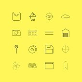 Interface linear icon set. Simple outline icons