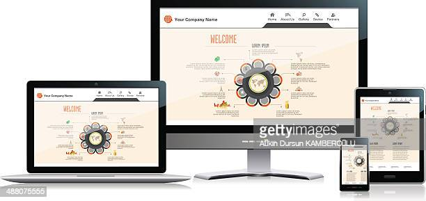 interface media - web page stock illustrations