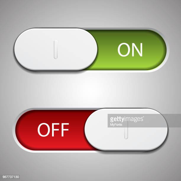 ui interface switching on and off - start button stock illustrations, clip art, cartoons, & icons