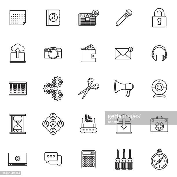 Interface Thin Line Outline Icon Set