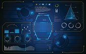 HUD interface UI future virtual artificial intelligence innovation design template
