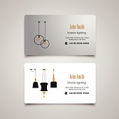 Interior and Furniture Designer vector business card template