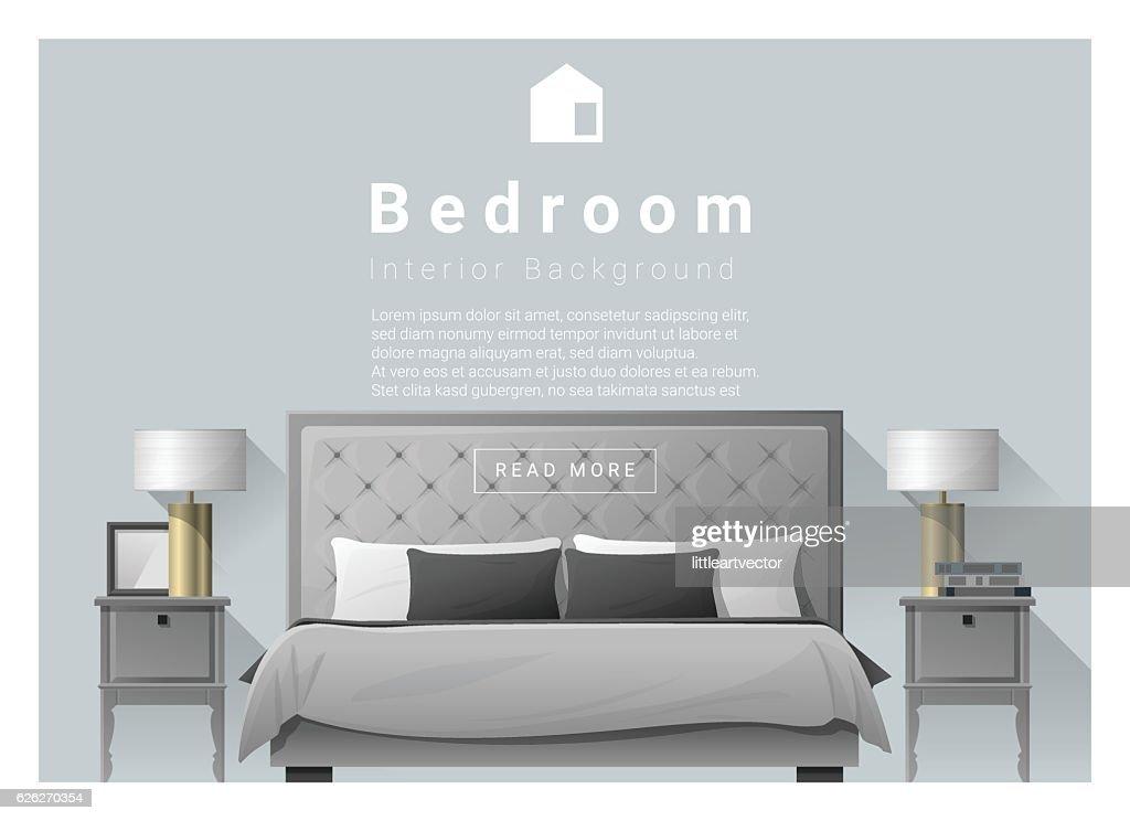 Interior Design Bedroom Background 2 Stock Vector Getty Images