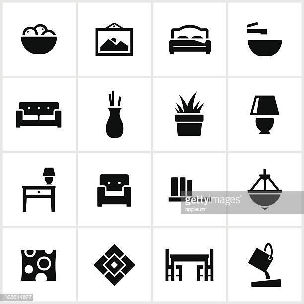 interior design elements icons - vase stock illustrations, clip art, cartoons, & icons