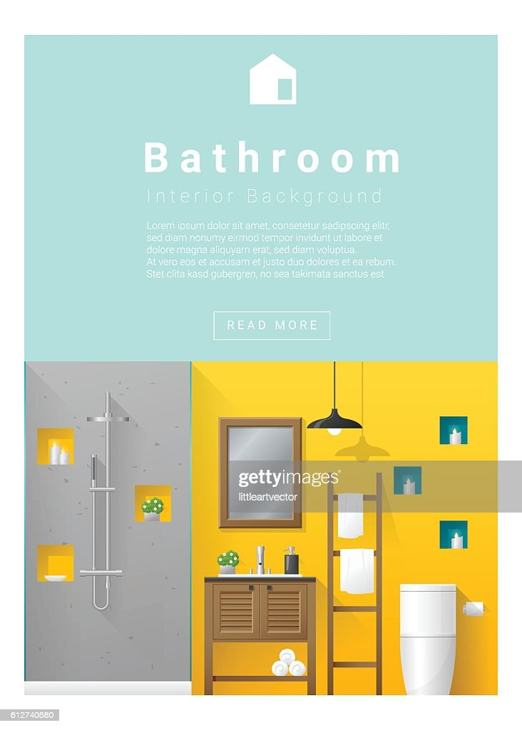 Interior Design Modern Bathroom Banner 5 Vector Art Getty Images