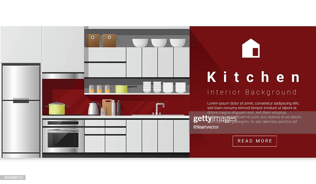 Interior design Modern kitchen background 1