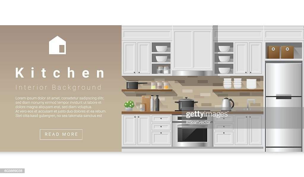 Interior design Modern kitchen background 2