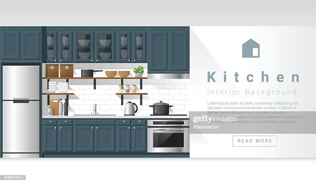 Interior design Modern kitchen background 4