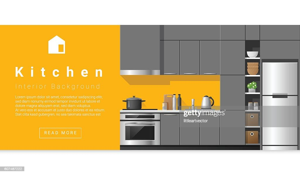 Interior design Modern kitchen background 5