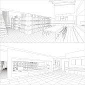 Interior vector drawing.