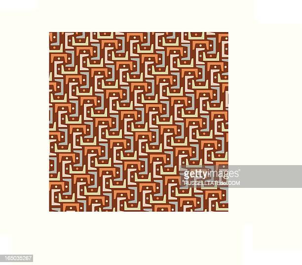 Interlink Pattern in Brown
