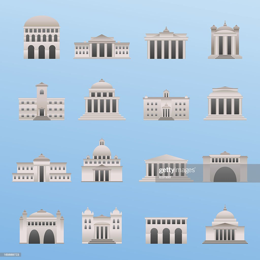 International Buildings : stock illustration