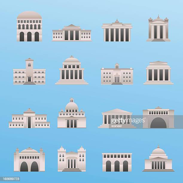 international buildings - brandenburg gate stock illustrations, clip art, cartoons, & icons