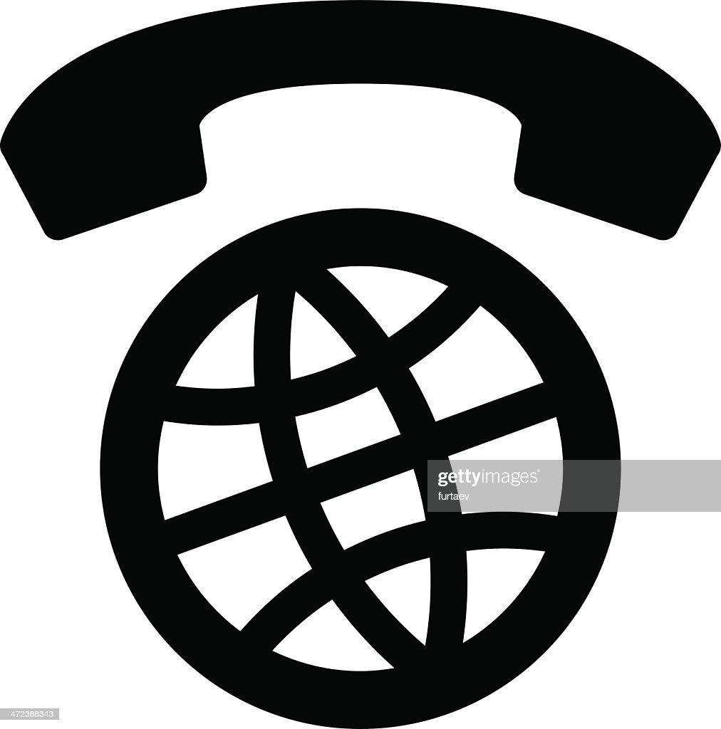 International calls worldwide icon