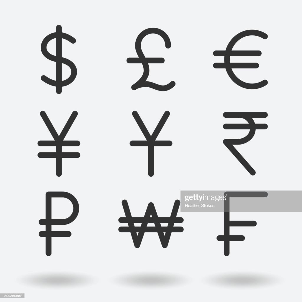 International Currency Symbols Vector Art Getty Images