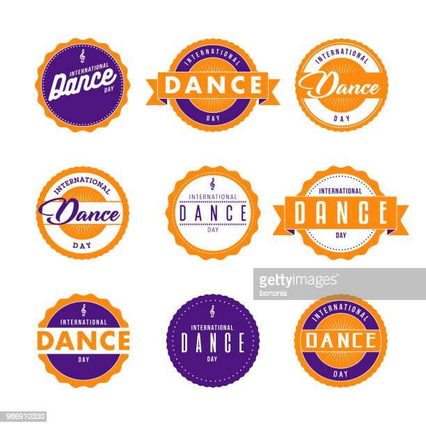 International Dance Day Icon Set