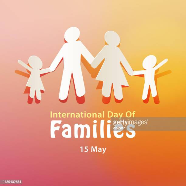 international day of families 15 may - day stock illustrations