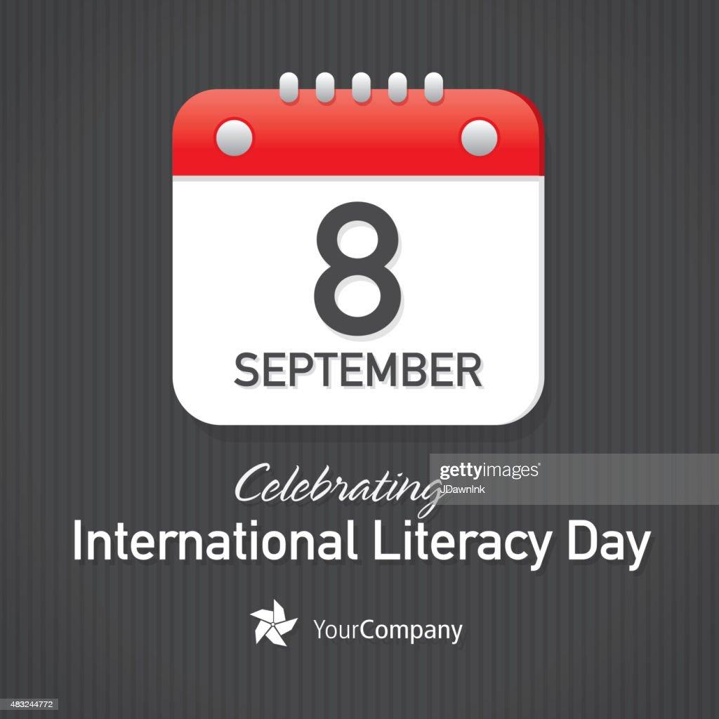 International Day Of Literacy Day Calendar Design Layout Template