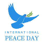 International Day of Peace Poster with dove, 21 september