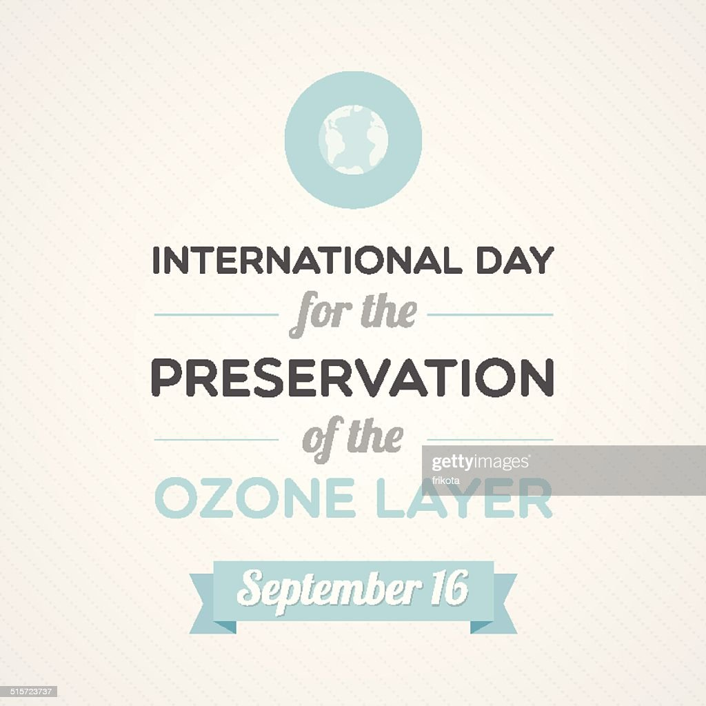 International Day: Preservation of the Ozone Layer