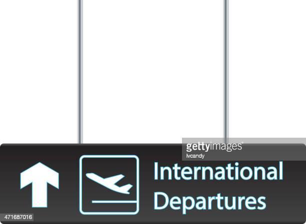International departures board