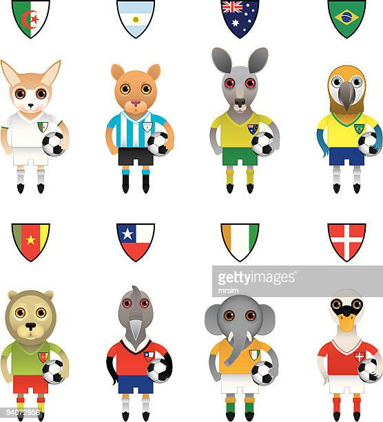 International Football / Soccer Mascot Animal Characters