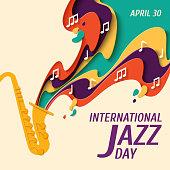 International Jazz Day vector background