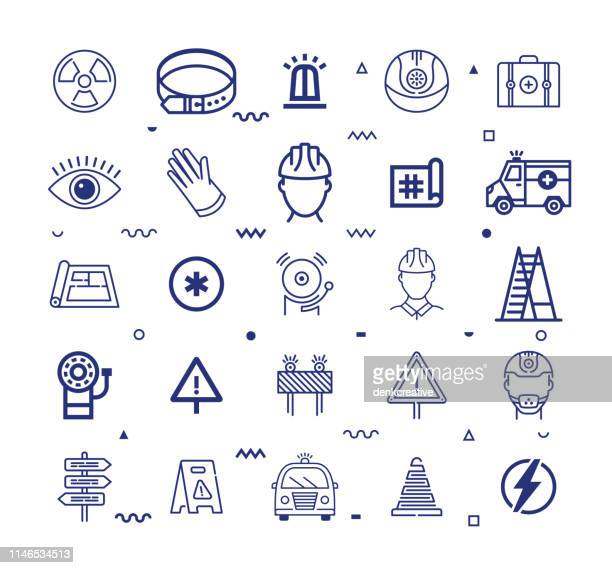international labour standards line style vector icon set - occupational safety and health stock illustrations, clip art, cartoons, & icons