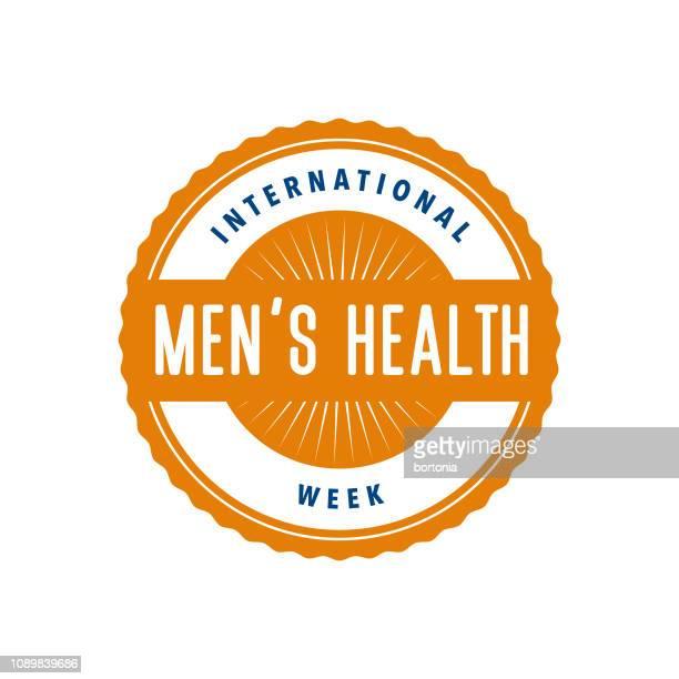 international men's health week label - masculinity stock illustrations, clip art, cartoons, & icons
