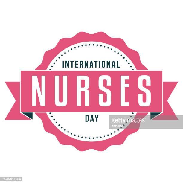 international nurses day label - international nurses day stock illustrations