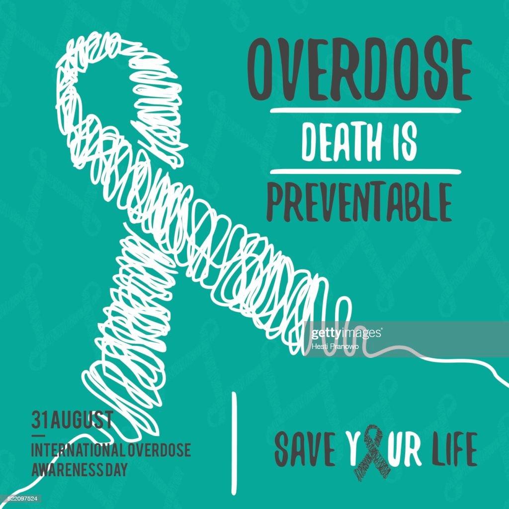 International Overdose Awareness Day. Vector illustration Eps.8 Eps.10