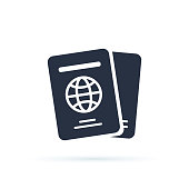 International passport vector icon. filled flat sign for mobile concept and web design. Travel documents simple icon.