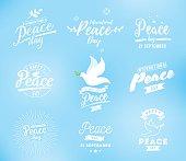 International peace day vector emblem