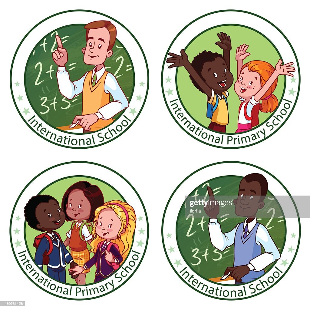 International School. Template logo : Vector Art