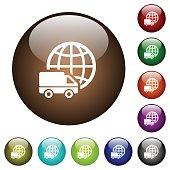 International transport color glass buttons