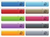 International transport icons on color glossy, rectangular m