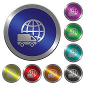 International transport luminous coin-like round color buttons