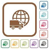 International transport simple icons