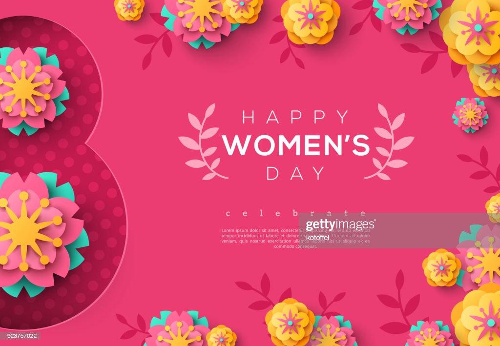 International Women day pink banner