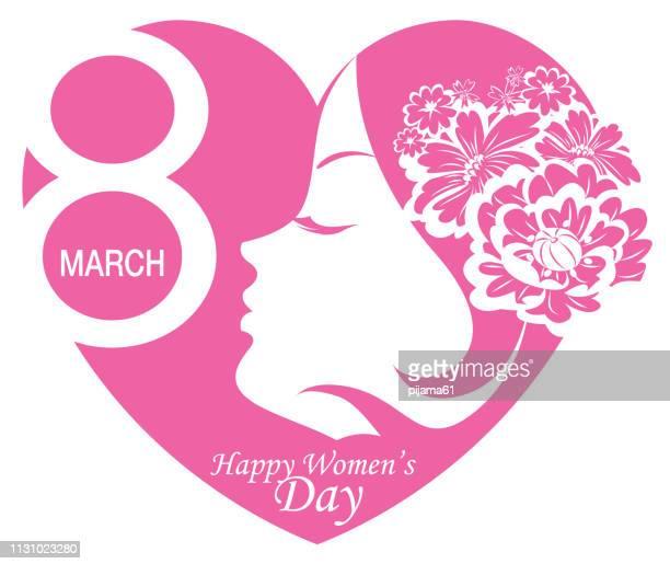 stockillustraties, clipart, cartoons en iconen met internationale vrouwendag 8 maart - internationale vrouwendag