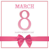 International Womens day background, 8 March.