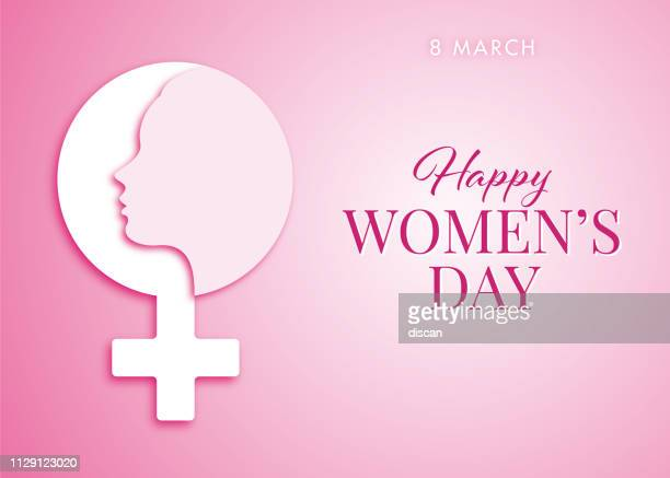 stockillustraties, clipart, cartoons en iconen met wenskaart voor international women's day design - happy women's day vieringen concept - happy women's dag - internationale vrouwendag