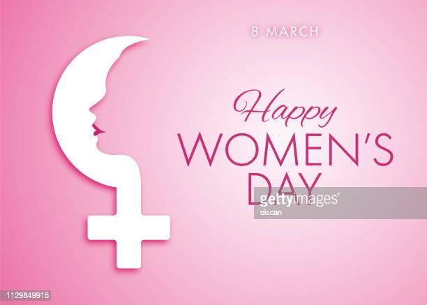 ilustrações de stock, clip art, desenhos animados e ícones de international women's day design - happy women's day celebrations concept - happy women's day greeting card - dia internacional da mulher