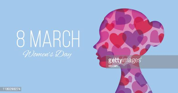 ilustraciones, imágenes clip art, dibujos animados e iconos de stock de día diseño - tarjeta de felicitación día de feliz de las mujeres - ilustración internacional de la mujer - feliz dia de la mujer