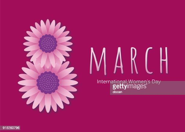stockillustraties, clipart, cartoons en iconen met international women's day sjabloon voor reclame, banners, folders en flyers. - internationale vrouwendag