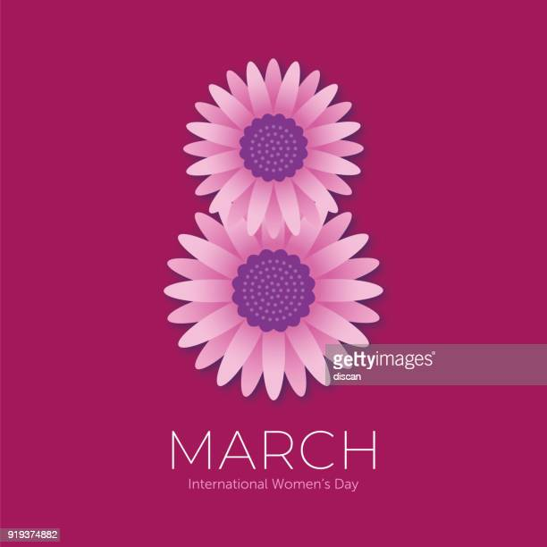 stockillustraties, clipart, cartoons en iconen met international women's day sjabloon voor reclame, banners, folders en flyers - internationale vrouwendag