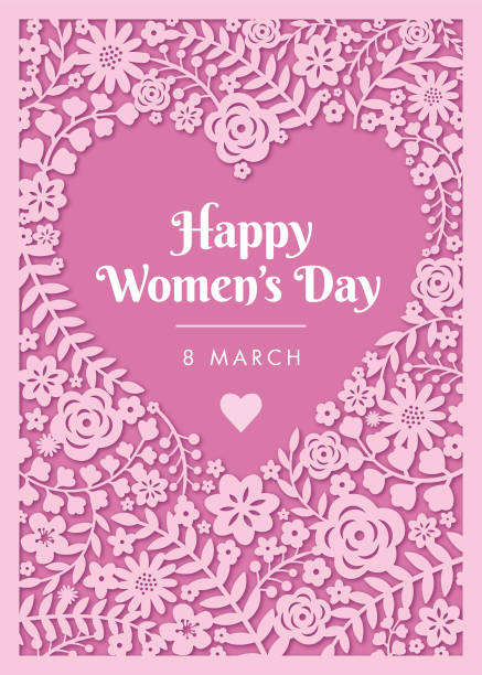 international women's day template for cards, advertising, banners, leaflets and flyers. - femininity stock illustrations